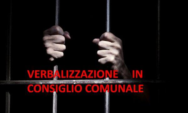 PROGETTO COMUNITA' E GIUSTIZIA: VERBALIZZAZIONI IN CONSIGLIO COMUNALE